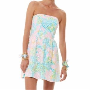 Lilly Pulitzer Lottie Lace Overlay Strapless Dress